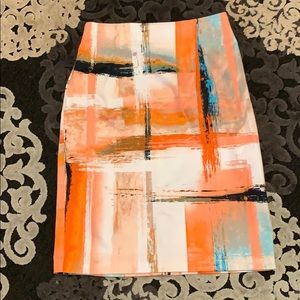 💕Beautiful Orange Abstract Print Pencil Skirt💕